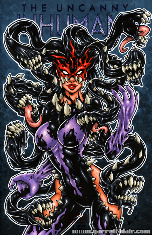 Venomized Medusa sketch cover