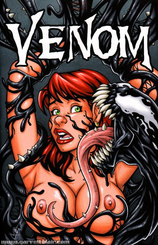 Naughty Mary Jane + Venom bust cover by gb2k