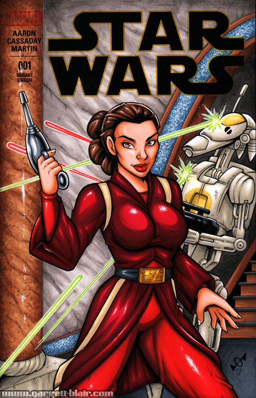 Episode I Padme Amadala sketch cover by gb2k