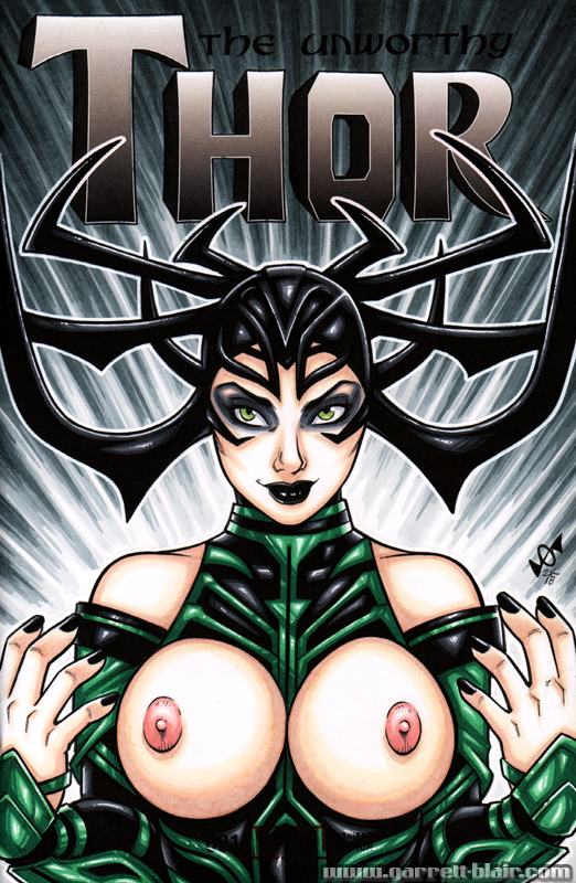 Naughty Hela bust cover by gb2k