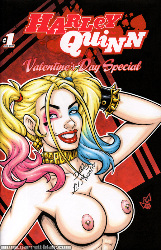 Naughty Suicide Squad Harley Quinn bust cover by gb2k
