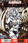 Savage Land Lady Death sketch cover
