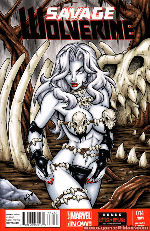 Savage Land Lady Death sketch cover by gb2k