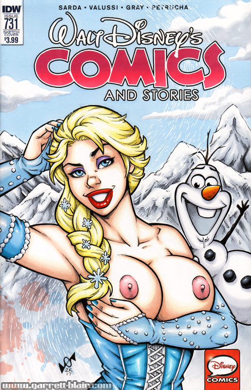 Naughty Elsa Frozen bust cover by gb2k