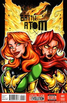 Phoenix + Dark Phoenix bust cover