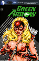 Naughty Arrowette bust cover by gb2k