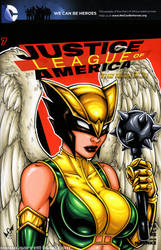 Hawkgirl bust cover by gb2k