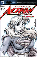 Supergirl Quick Sketch cover by gb2k