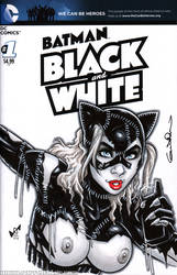 Naughty Catwoman (BR) Quick Sketch cover by gb2k