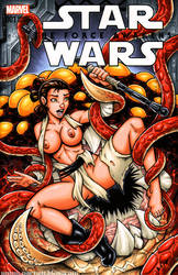 Rey vs the Rathtar naughty sketch cover by gb2k