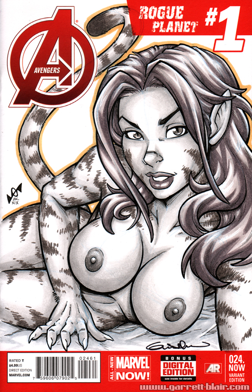 Naughty Tigra Quick Sketch cover by gb2k