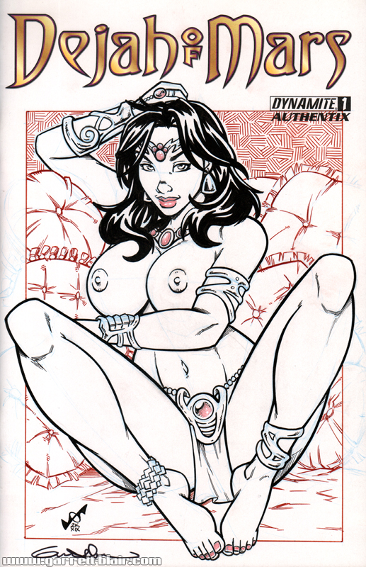 Naughty Dejah Thoris Quick Sketch cover by gb2k