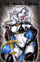 Lady Death sketch cover by gb2k