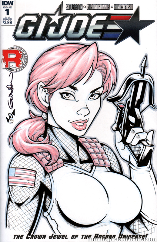 Scarlett bust Quick Sketch cover by gb2k