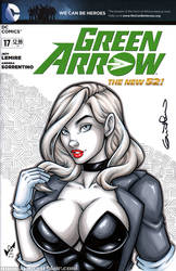 Black Canary Quick Sketch bust cover by gb2k