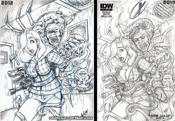 Jessica Rabbit meets the Thing cover pencils by gb2k