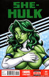 She-Hulk bust tease cover by gb2k