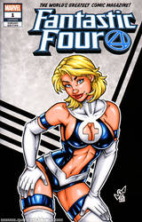 90s Sue Storm / Invisible Woman sketch cover