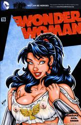 Naughty Wondergirl see-thru bust cover by gb2k