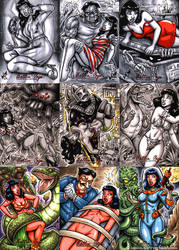 Bettie Page Private Collection sketchcards - PERIL