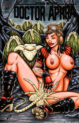 Naughty Dr Aphra + Facehugger sketch cover by gb2k