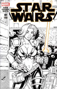 Jedi Master Tankette ink cover commission