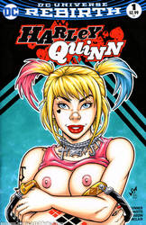 Naughty BoP Harley Quinn bust cover by gb2k