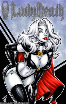 Lady Death cover commission