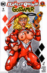 Naughty Pajama Harley Quinn sketchcover commission by gb2k