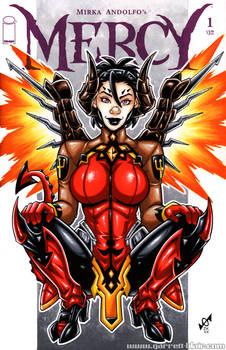 Devil Mercy (Overwatch) sketch cover