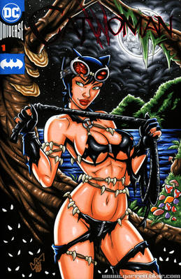 Savage Land Catwoman sketch cover