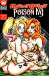 Naughty Harley Quinn + Poison Ivy cover commission by gb2k