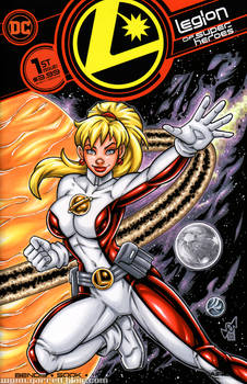 Saturn Girl sketch cover