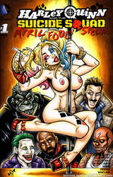 Suicide Strippin' Harley Quinn sketch cover by gb2k