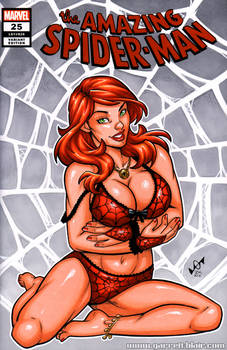 Mary Jane Watson lingerie sketch cover