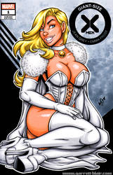 Emma Frost / White Queen leggy sketch cover
