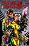 90s Rogue + Gambit sketch cover