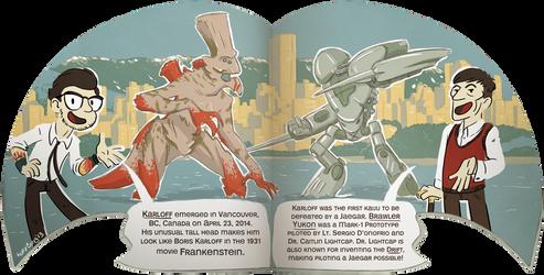 Dr. Newt's Big Book of Kaiju Spread