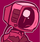 Boy with a Tv head
