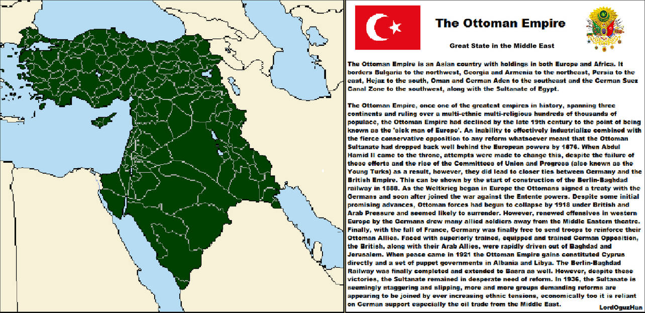 The Ottoman Empire  by LordOguzHan on DeviantArt