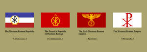 Althistory: Ideology flags of The Western Roman