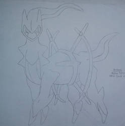 Old sketch #18 - Arceus by After-Sunfall