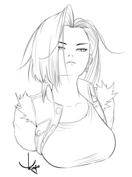 [Lineart] Android 18 by RogerKmpo