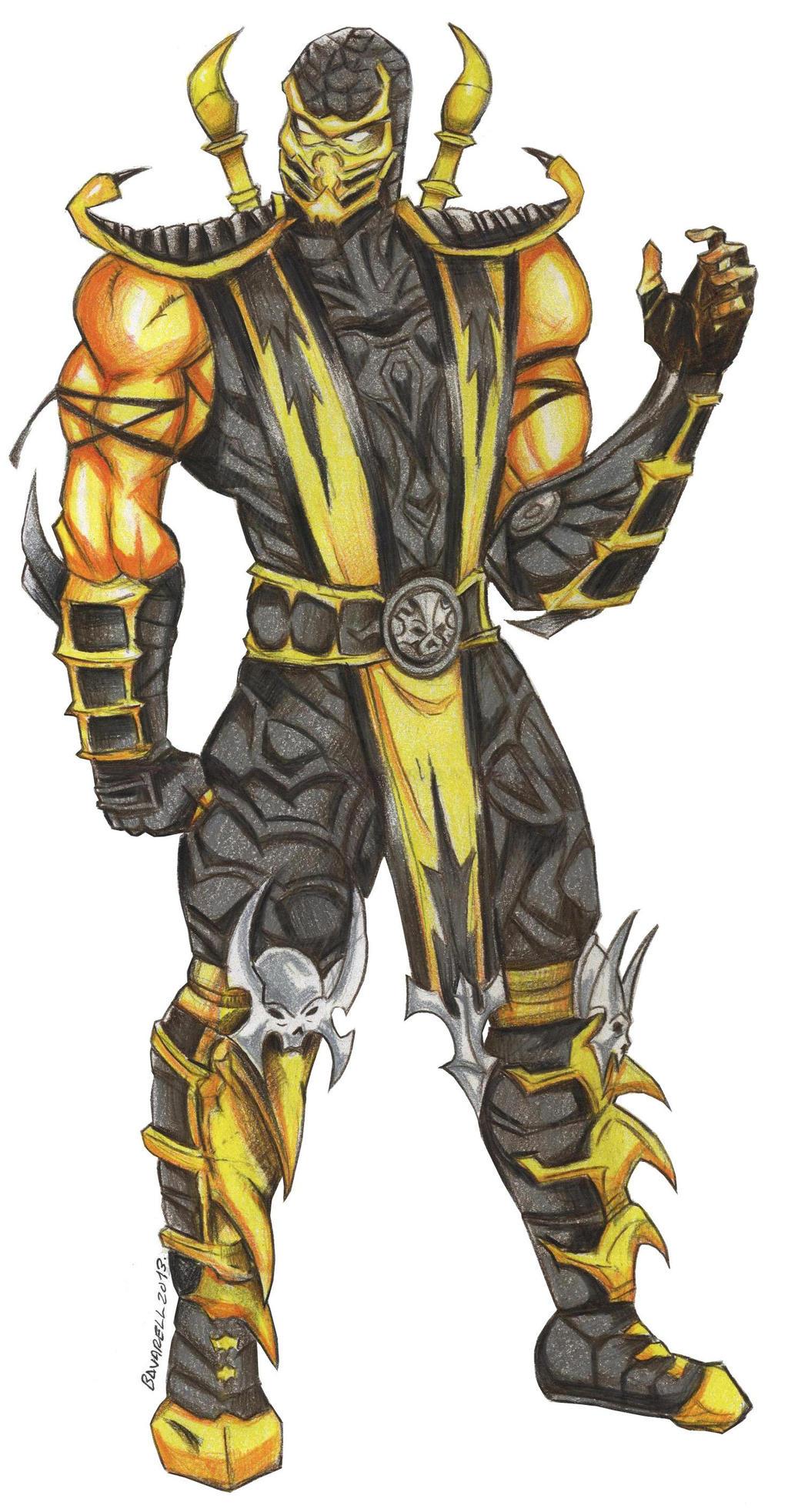 Scorpion Mortal Kombat 9 Jey Albert BR Comnission by ...