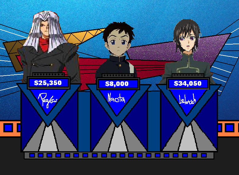 Cartoon Characters Jeopardy : Anime jeopardy by cruiseshipz on deviantart