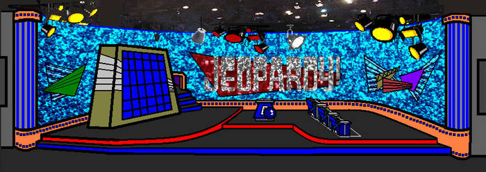 The Anime Jeopardy set
