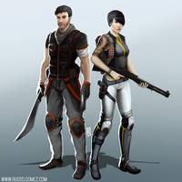 Machetes and Shotguns by RusselTGomez