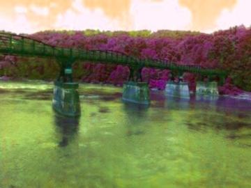 Ohiopyle Bridge Colored by AislingLady