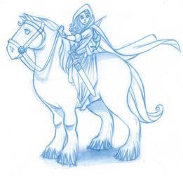 Merida and Angus by KingOlie