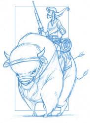 Guy On A Buffalo by KingOlie